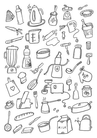 Kitchen Hand Drawn Set Illustration