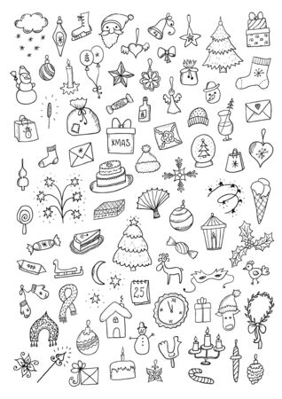 christmas icon: Christmas hand drawn set