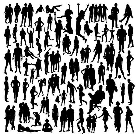 La gente grande Silhouettes Set