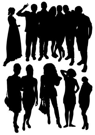 Menschen Silhouetten Standard-Bild - 66680101