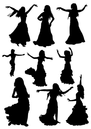 Belly dancing silhouettes