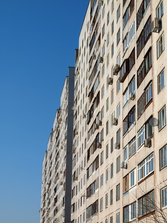 dwelling: Dwelling tall house in Moscow Stock Photo