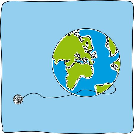 Map world draw globe background Illustration
