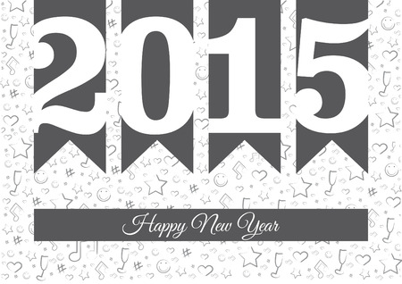 regards: Vector background happy new year 2015