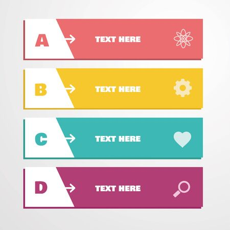 variables: Vector colorful infographic Illustration