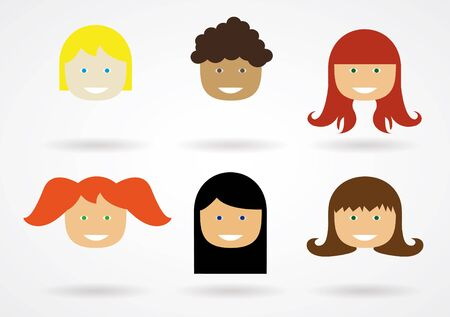 hairstyles: Vector hairstyles for different people