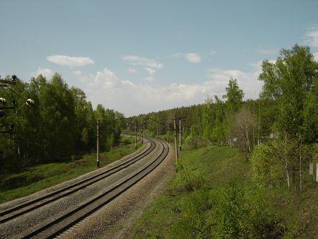 철도, 노보시비르스크 지역 스톡 콘텐츠