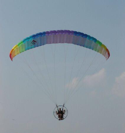 Parachute in sky