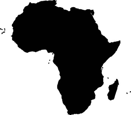 Africa silhouette Stock Photo