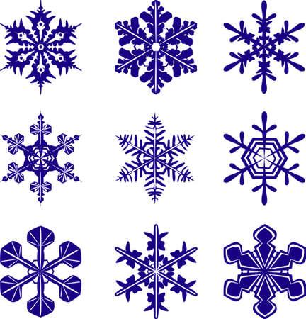 異なるデザインの雪片 写真素材 - 409127