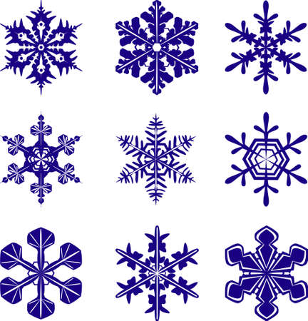 Snowflakes of different design