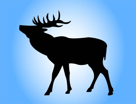 Deer silhouette Archivio Fotografico - 409122