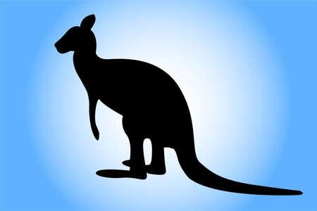Kangoeroe silhouet