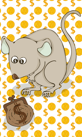 new year symbol,metal mouse,vector illustration in cartoon style. 向量圖像