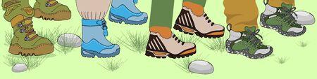 Legs that walk. One foot above the other makes a step motion. Illusztráció