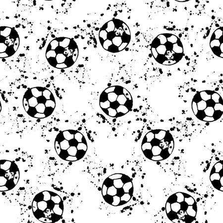 doodle, soccer ball and splatter blots on a white background. Çizim