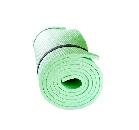 lightweight: Lightweight foam Yoga Mat roll isolated on white