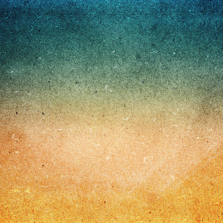 Abstract Designed grunge paper texture. Summer beach recycled paper textured background with film grain. Highly detailed frame. Banco de Imagens