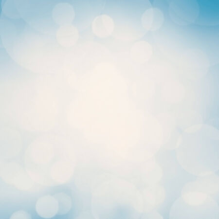 sales event:  Blue Festive Christmas background. Abstract twinkled bright background with bokeh defocused white  lights