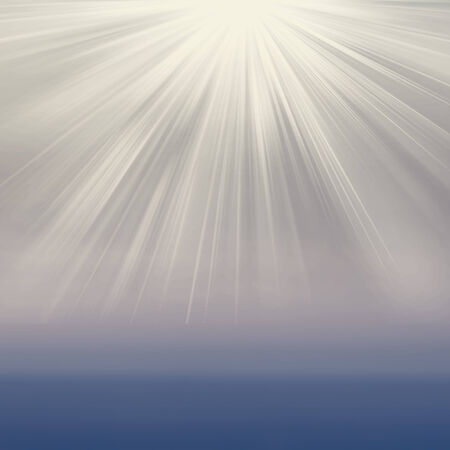 Sun on grey background with copy space. Soft colored abstract gradient background  photo