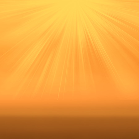 Sun ray on yellow  background with copy space. Soft colored abstract gradient background
