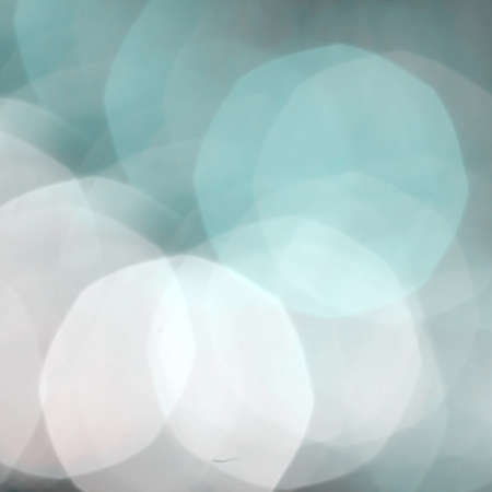 Abstract with bokeh de focused lights and shadow aqua green and white color.