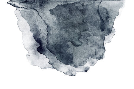 white bacground: Abstract hand drawn watercolor background, raster illustration isolated.  Stock Photo