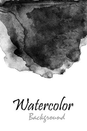 抽象的な手描き水彩の背景
