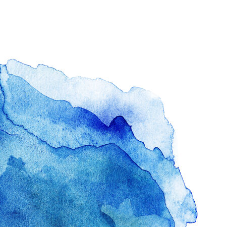isolate: Wavy Abstract light blue watercolor background isolated on white.