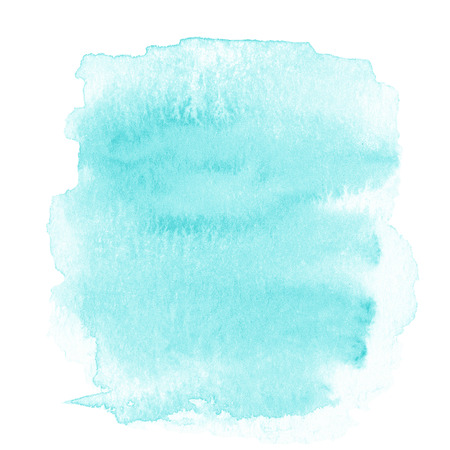 watercolour paper: Blank Abstract light blue watercolor background isolated on white.  Stock Photo