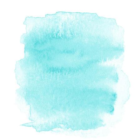 azul: En blanco Fondo abstracto de luz azul de la acuarela aislado en blanco.