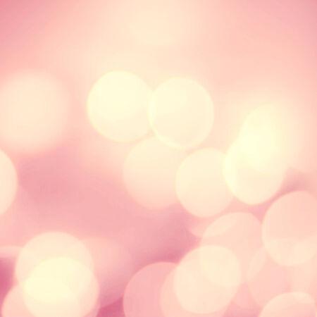 pink decorations: Christmas Defocused golden smooth  Bokeh light Vintage background.