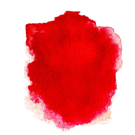 Red  Abstract  watercolor background isolated on white photo