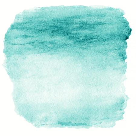 緑水彩オンブル背景。