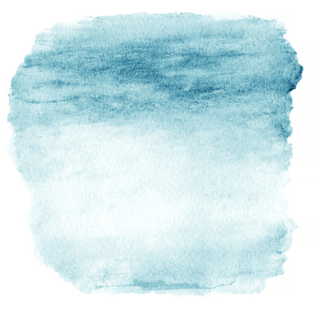 Blank Abstract light blue watercolor background isolated on white.  Stockfoto