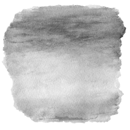 Grey spot, watercolor abstract hand painted textured background isolated on white.  photo