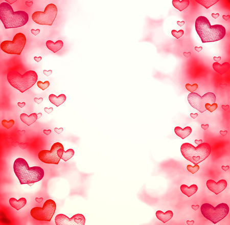 shiny day: Happy Valentines day Abstract   Defocused Bokeh twinkling lights Vintage background. Festive background with natural Red love hearts boke