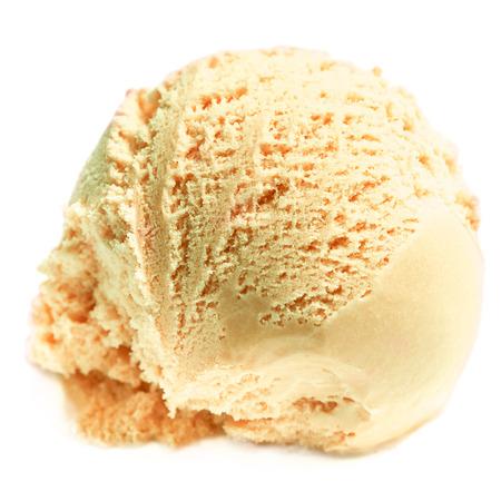 pelota: Helado. Cucharada de tiramis� helado Foto de archivo