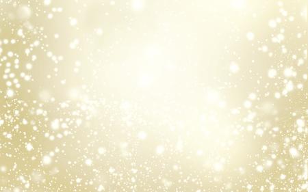 エレガントなきらびやかなクリスマス背景に雪の結晶、抽象的なゴールド クリスマス ライトのテキスト 写真素材
