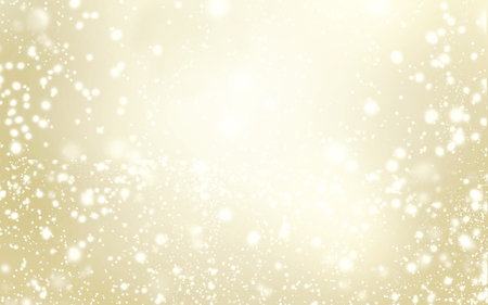 Elegant glittering Christmas background with snowflakes and place for text - Abstract Gold  christmas lights