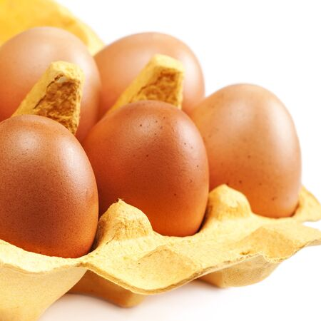 brown eggs: Brown Eggs Chicken Egg isolated Stock Photo