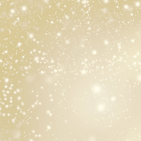 Abstract Sparkling Merry Christmas card - Golden Christmas lights and snowflakes