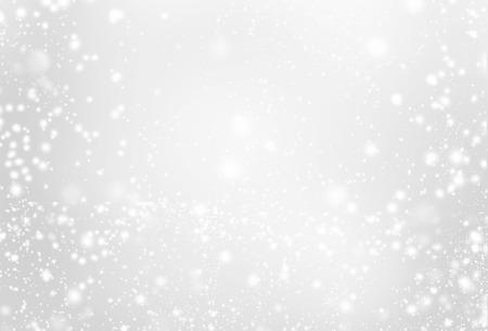 銀の背景 - スパーク リングとグレーと白のライトや星を抽象化します。お祝い、休日、パーティ、クリスマス テクスチャ