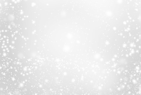 Silver background with sparkling - abstract grey and white  lights and stars. Festive, Holiday, Party, Christmas texture