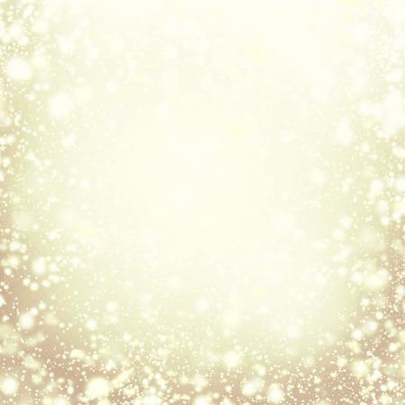 Vánoční pozadí - zlaté šumivé světla. Rozostření pozadí zlatý