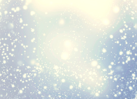 glowing star: Beautiful abstract snowflake and stars Christmas background. Golden Lights on blue background. Stock Photo