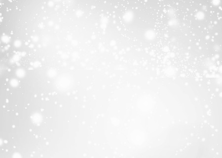 silver background: Abstract Background with Christmas Glitter Defocused Bokeh, Blinking Stars and snowflakes. Blurred Soft colored Stock Photo
