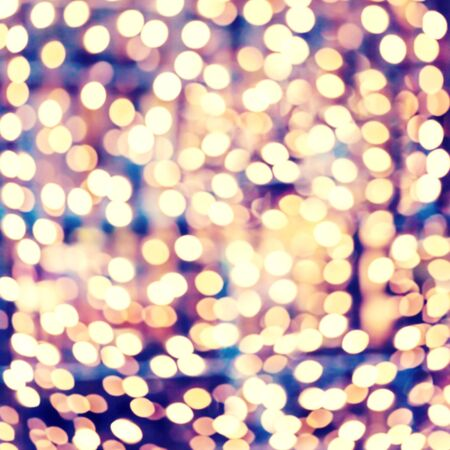 Disco background with abstract crossing circles and ovals. Sparkling bokeh with fractal golden lights