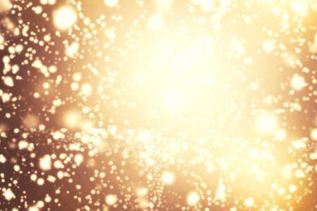 background elegant: Resumen del brillo luminoso de la vendimia de fondo. De-centrado luces de oro brillantes con efecto bokeh. Foto de archivo