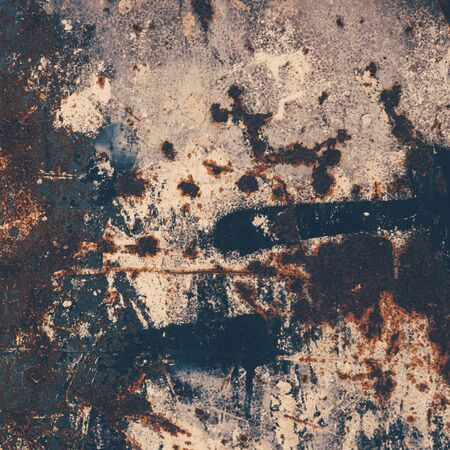 pitting: Abstract large rust surface background. Grungy background with space for text or image. Dark vintage wall
